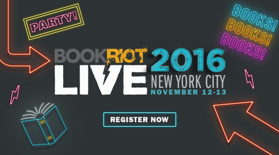Book Riot Live 2016 neon signs logo