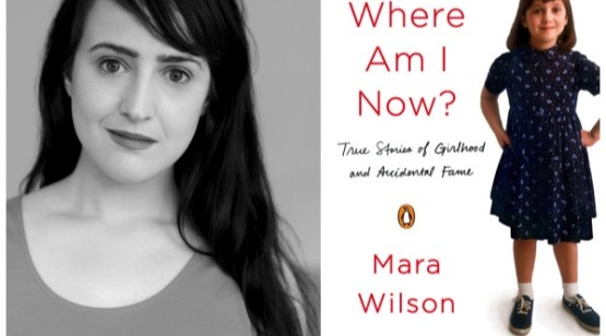 Mara Wilson and her book cover for Where Am I Now?