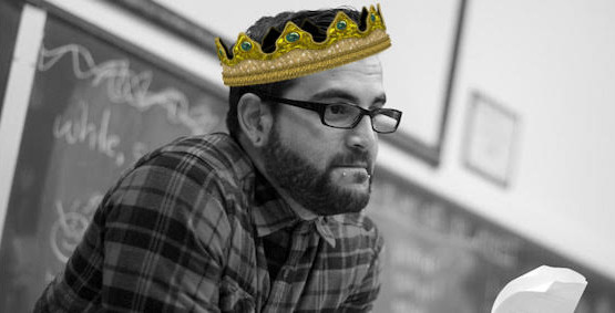 Mark Oshiro with a photoshopped crown