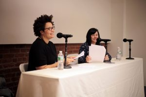 Author Danielle Henderson and librarian/Rioter Rita Meade recorded a live edition of the Dear Book Nerd podcast.