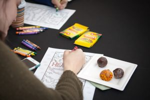 Why just color when you can color AND eat a donut?