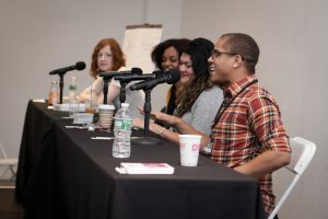 Big laughs were had at this year's Slash Live with moderator Jessica Plummer and Alyssa Cole, Zoraida Córdova, and Michael Strother.