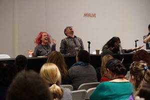 Book Riot Live 2016 started out with a barbaric group yawp, courtesy of Rebecca Joines Schinsky, Jeff O'Neal, and Amanda Nelson.