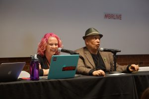 Rebecca Schinsky and Walter Mosley, in (hilarious) conversation.